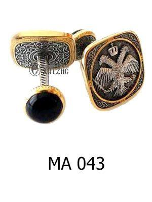 Μανικετόκουμπα Ασημένια ΜΑ 043