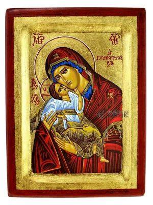 Παναγία Γλυκοφιλούσα Σκαφτή Χρυσό