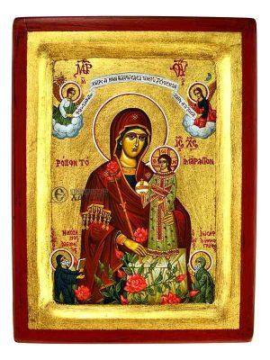Παναγία Ρόδον Το Αμάραντο Σκαφτή Χρυσό