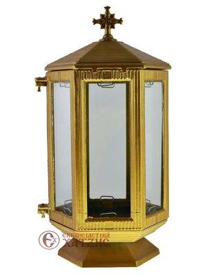 Καντήλι Τάφου Εξάγωνο Χρυσό Β