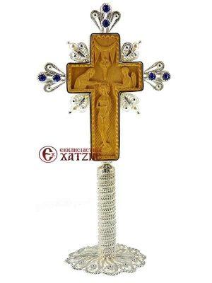 Σταυρός Αγιασμού Ασημένιος Χειροποίητος