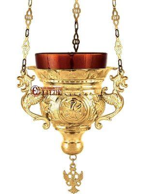 Καντήλι Κρεμαστό Βυζαντινό Επίχρυσο