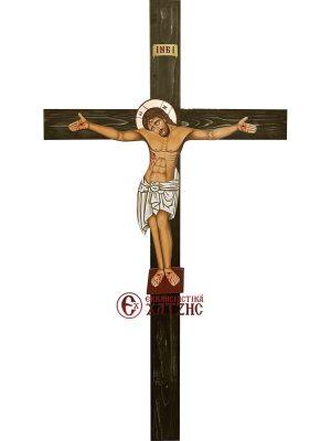 Εσταυρωμένος Αγιογραφία Με Σταυρό