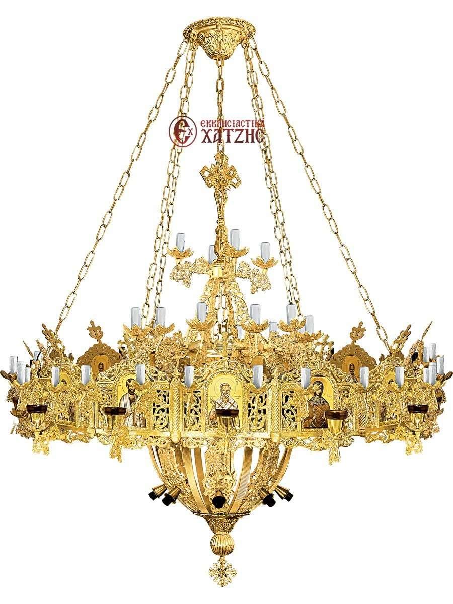 Πολυέλαιος Με Χορό Αλουμινίου 76 Φώτα 100-818