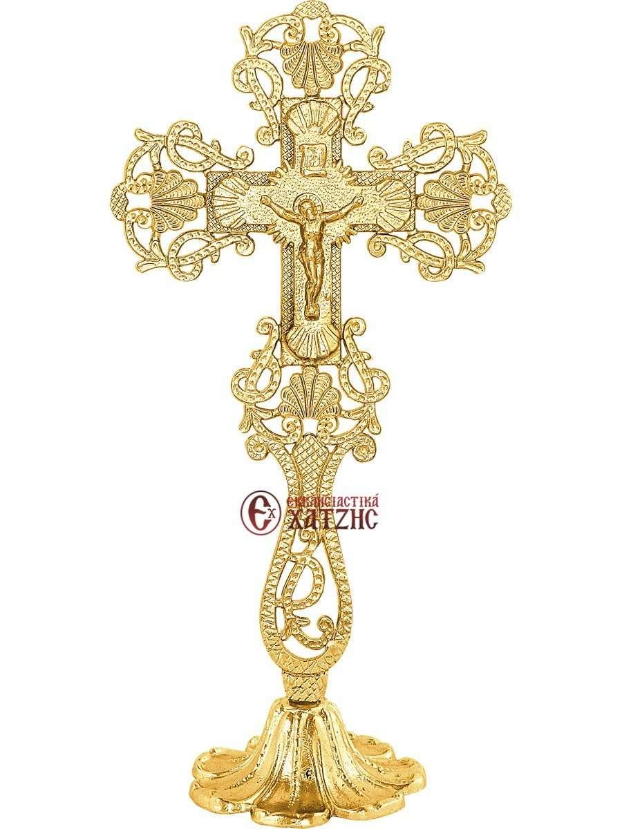 Σταυρός Αγιασμού Επίχρυσος 71-650