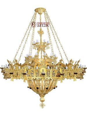 Πολυέλαιος Με Χορό Αλουμινίου 95 Φώτα 99-817