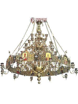 Πολυέλαιος Με Χορό Ορειχάλκινος 89-752