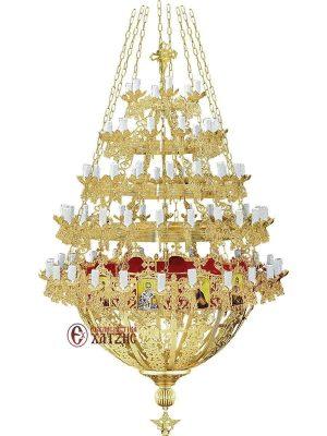 Πολυέλαιος Βυζαντινός Επίχρυσος 91-757