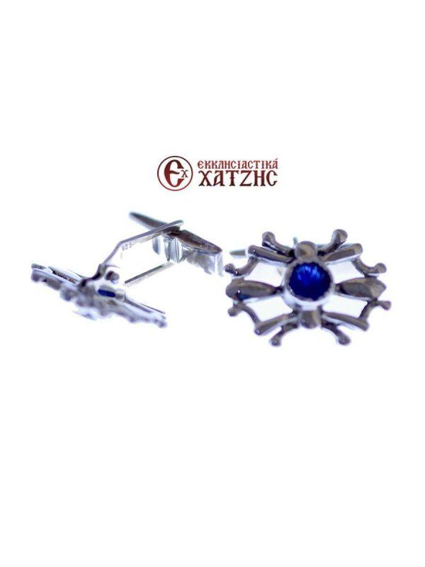 Μανικετόκουμπα Ασημένια XA 018