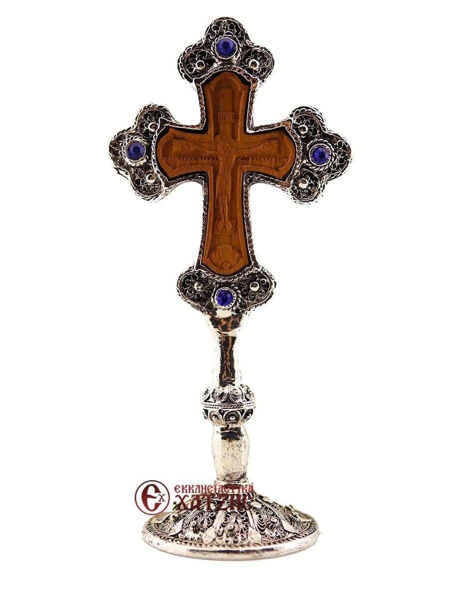 Σταυρός Αγιασμού Επάργυρος 748