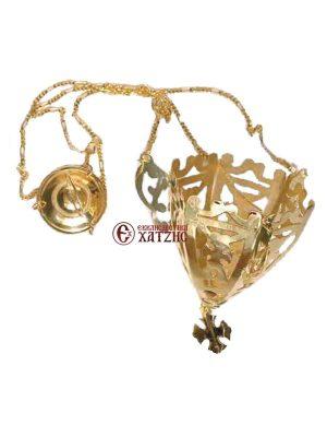 Καντήλι Κρεμαστό Μικρό Χρυσό