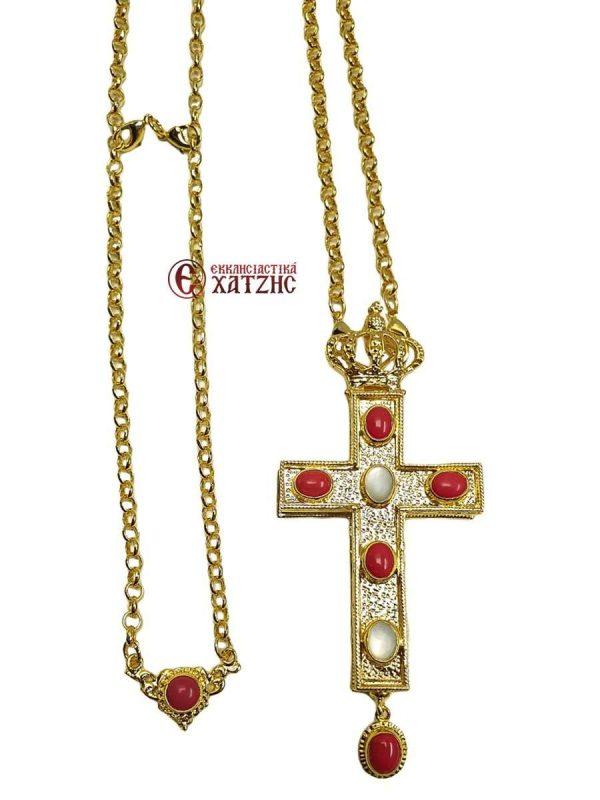 Επιστήθιος Σταυρός Κουφωτός Με Πέτρες