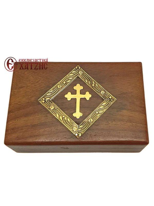 Κουτί Ξύλινο Με Σταυρό 208/15